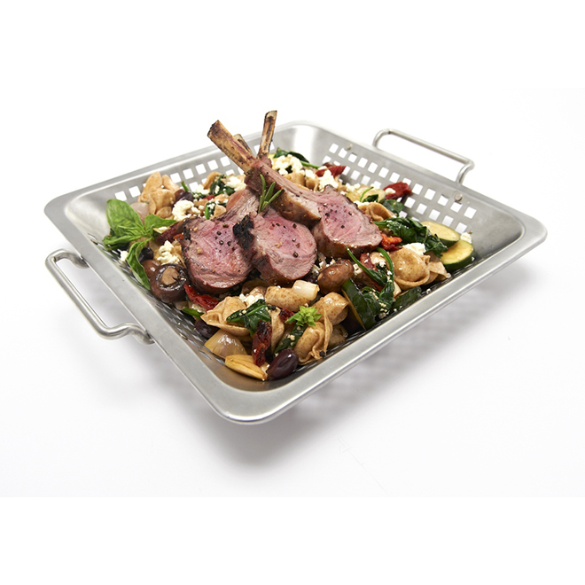 """Broil King BBQ Grill Wok - Stainless Steel - 12"""" x 12"""""""
