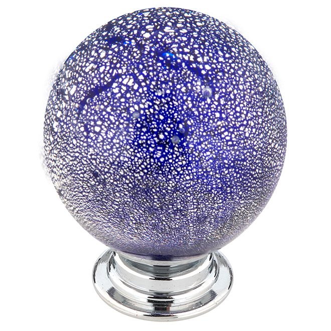 Richelieu Eclectic Knob with Patterns - Rossland - 35 mm - Blue and Grey