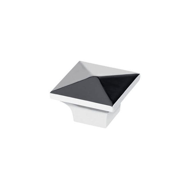 Contemporary Metal Knob - 32 mm - Chrome - 10/Pack