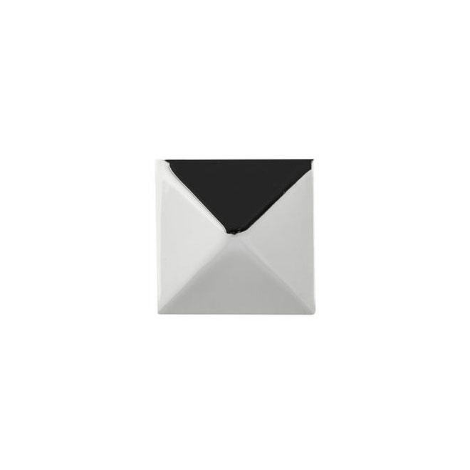 Bouton contemporain en métal, 32 mm, chrome, 10/pqt