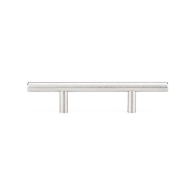 Richelieu Contemporary Metal Pull Handle - 156-mm - Stainless Steel - Pack of 10