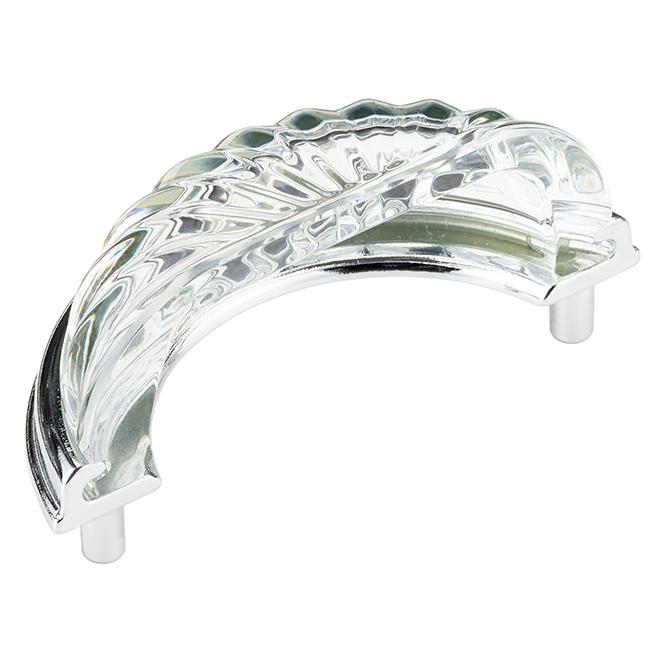 Poignée coupelle, Richelieu, Montreuil, christal, 3 po, chrome transparent