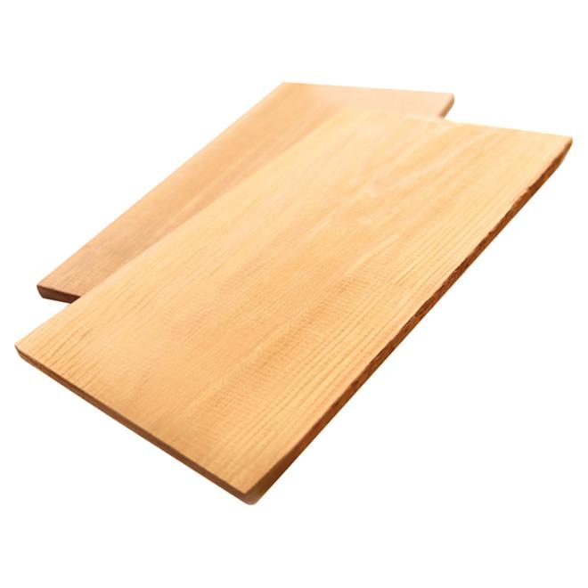 """Planche de cuisson en cèdre, 12"""", 2/pqt"""
