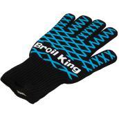 Gant résistant à la chaleur Broil King, silicone, noir et bleu