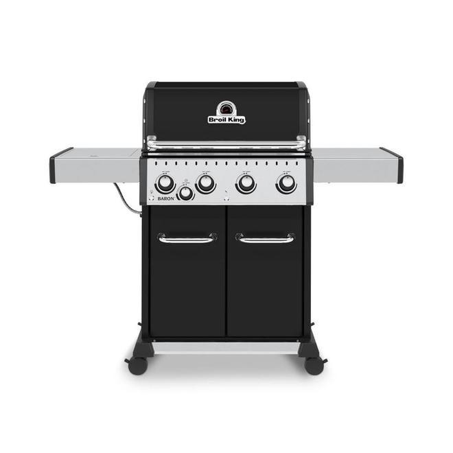 Barbecue Broil King Baron 440 gaz propane de 45 000 BTU, 4 brûleurs, noir