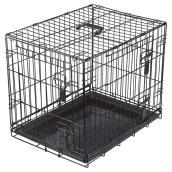 Cage grillagée à 2 portes pour chien, petit format