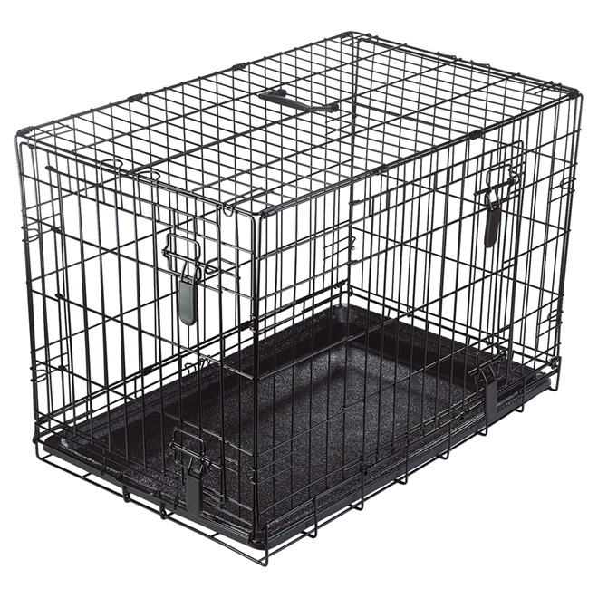 Dogit Wire 2 Door Dog Crate With Divider Medium 90563 Rona