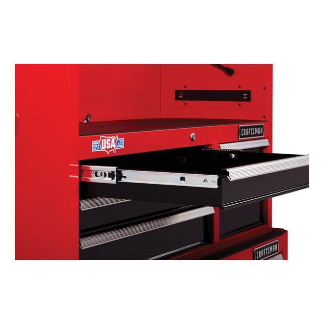 "Tool Chest - 6 Drawers - 40.5"" x 16"" x 24.5"" - Red and Black"