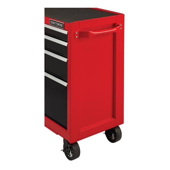 """Tool Cabinet - 10Drawers - 52"""" x 18"""" x 37.5"""" - Red and Black"""