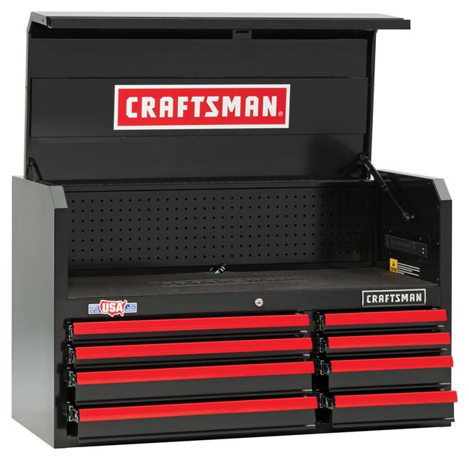 """Coffre à outils, 8 tiroirs, 41"""", rouge et noir"""