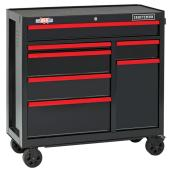"Tool Cabinet - 7 Drawers - 41"" - Red and Black"