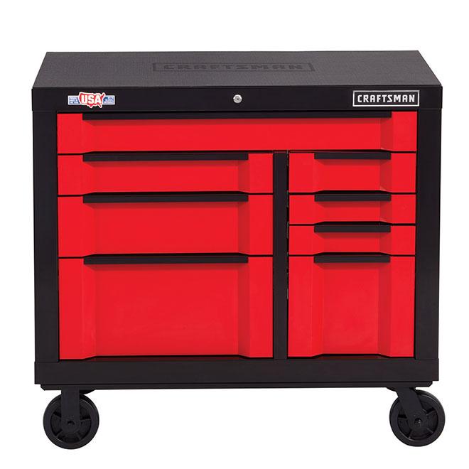 Armoire/coffre à outils Craftsman, Série 300, 8 tiroirs, 41''
