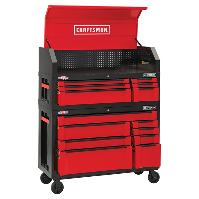 6-Drawer Tool Chest - 54'' - Red/Black