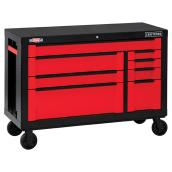 8-Drawer Cabinet - 54'' - Red and Black