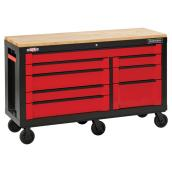 "Tool Cabinet - 8 Drawers - 63"" - Red and Black"