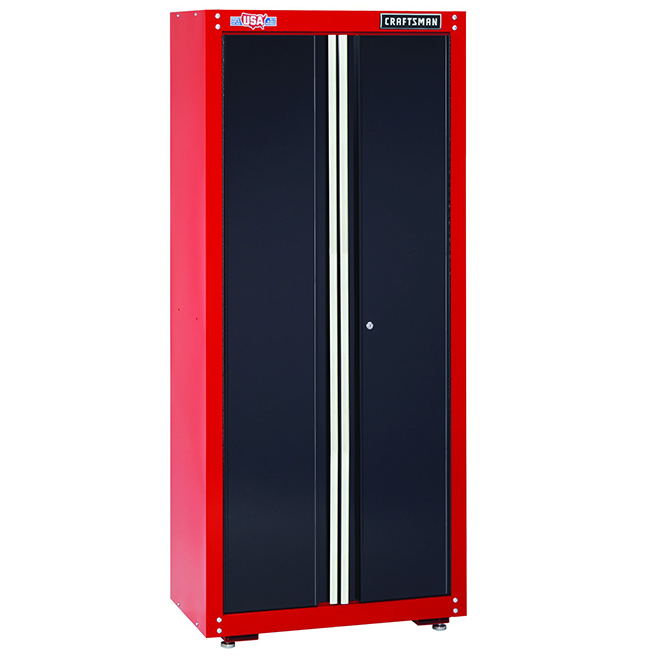 """Armoire de rangement pour le garage, 74"""", rouge et noir"""