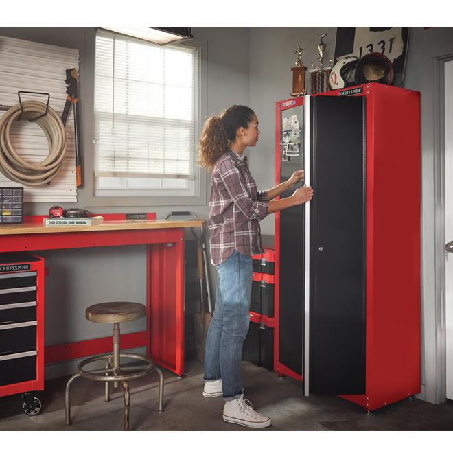 Craftsman Armoire De Rangement Pour Le Garage 74 Rouge Et Noir