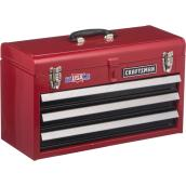 Tool Chest - 3 Drawers - 20.5'' x 8.5'' x 12'' - Red