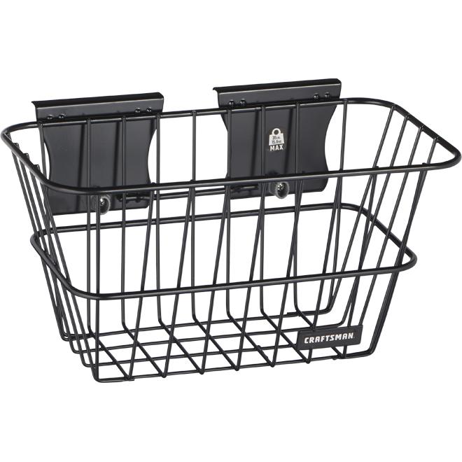 Craftsman VersaTrack Wall Storage Wire Basket - Black Steel