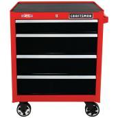 Coffre à outils mobile Craftsman à 4 tiroirs, 26 po, rouge