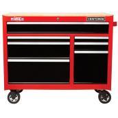 Station de travail Craftsman à 7 tiroirs, 41 po, rouge