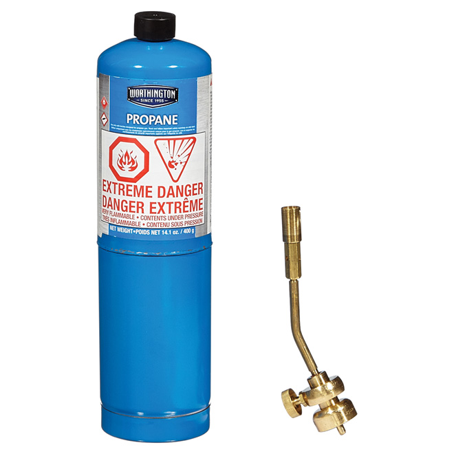 All Brass Propane Torch with 14.1 oz Cylinder
