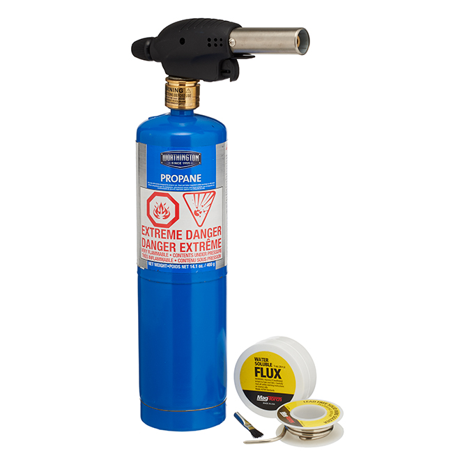 Soldering Propane Torch Kit - 14.1 oz - 5 Pieces