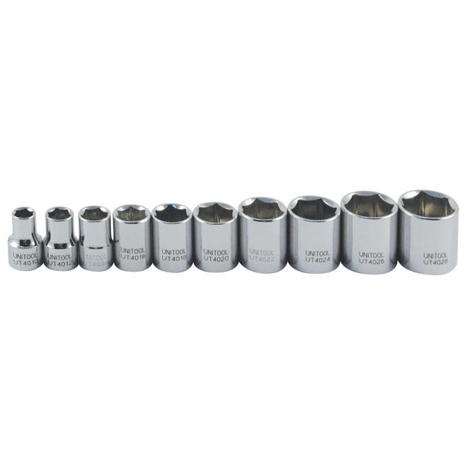 "Regular Socket Set - SAE - 3/8"" - 10 Pieces"