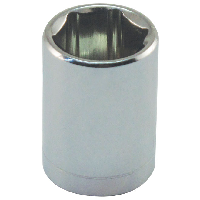 "Regular Socket - Steel - 1/4"" x 7/16"""