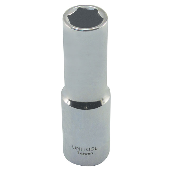 "Deep Socket - Steel - 1/2"" x 17 mm"