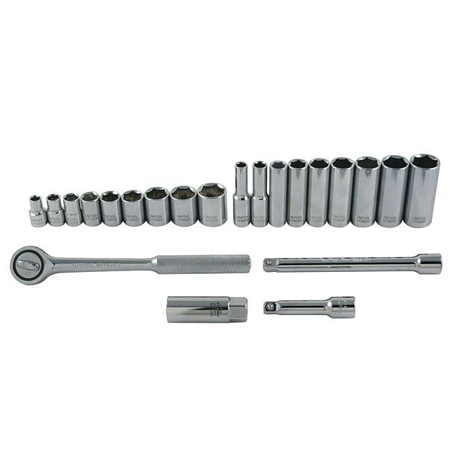 """Ensemble d'outils pour mécanicien, métrique, 3/8"""", 23 pièces"""