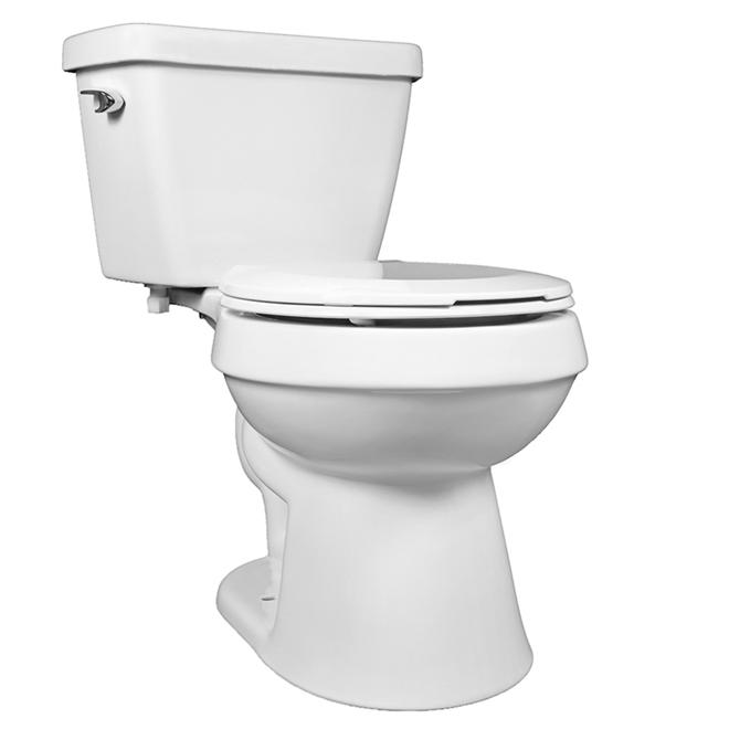 2-Piece Round Toilet - 4.8 L - White