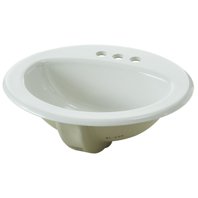 Drop-in Lavatory - 20'' x 17'' - Vitreous China - White
