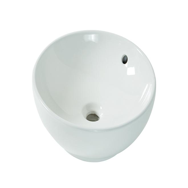 "Aquasource Round Vessel Sink - 15"" - Vitreous China - White"