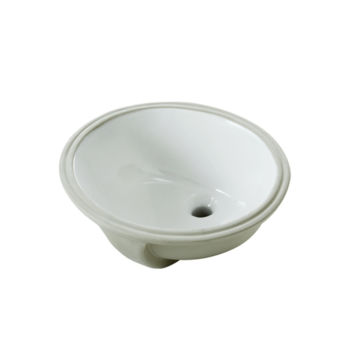 "Under Mounted Sink - Oval - 19.2"" x 16.3"" x 7.8"" - White"