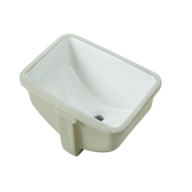 """Under Mounted Sink - Square - 21.4"""" x 15"""" x 8.33"""" - White"""