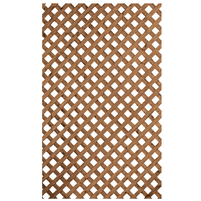 Privacy Treated Wood Lattice Brown 4 X 8 L47 16pst1
