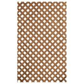 Privacy Treated Wood Lattice - Brown - 2' x 8'