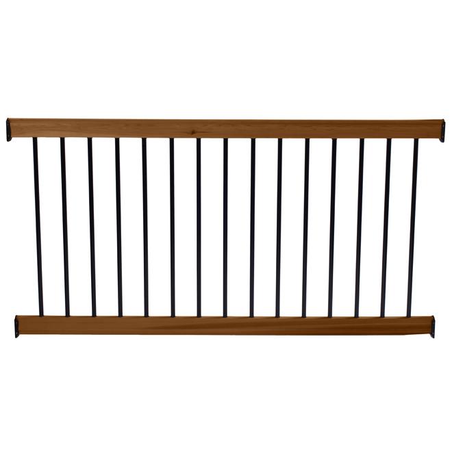 """Treated Wood Deck Rail Kit - Brown - 6' x 37"""""""