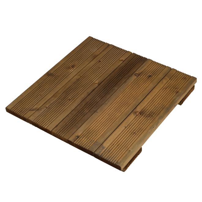 """Wood Deck Tile - Tanatone Brown - 16"""" x 16"""""""