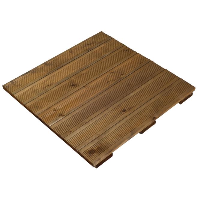 """Wood Deck Tile - Tanatone Brown - 24"""" x 24"""""""