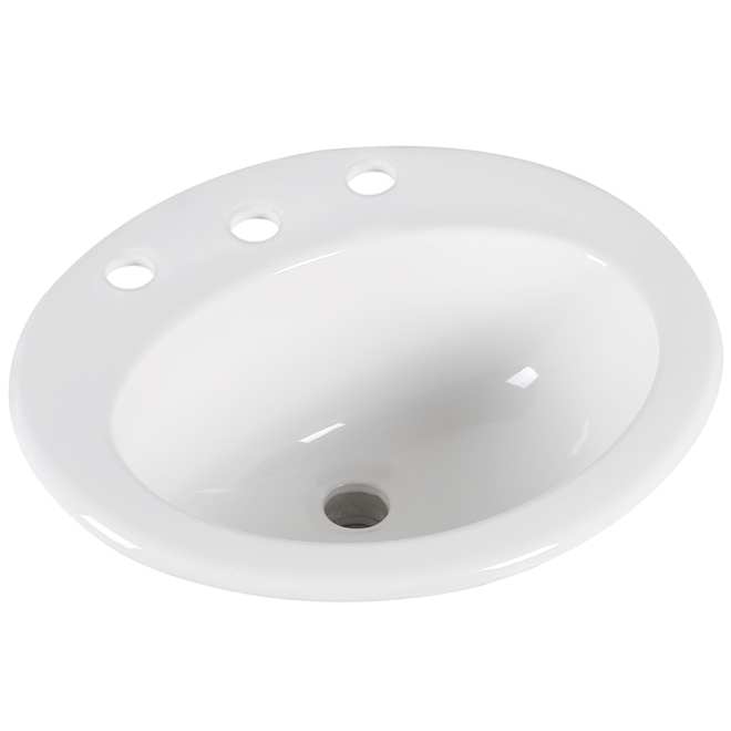 """Drop-in Lavatory - Oval - 20"""" x 16 7/8"""" - White"""