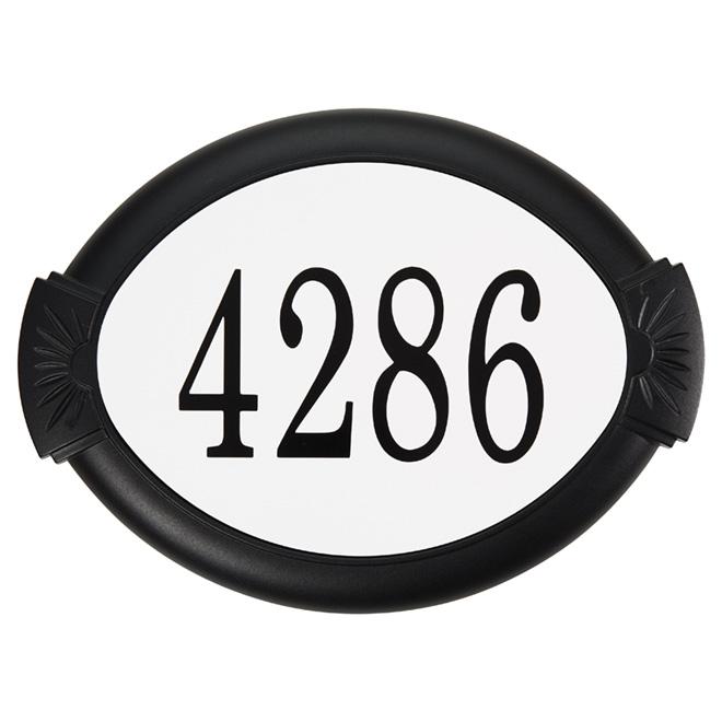 Plaque d'adresse Classique D&F, noir