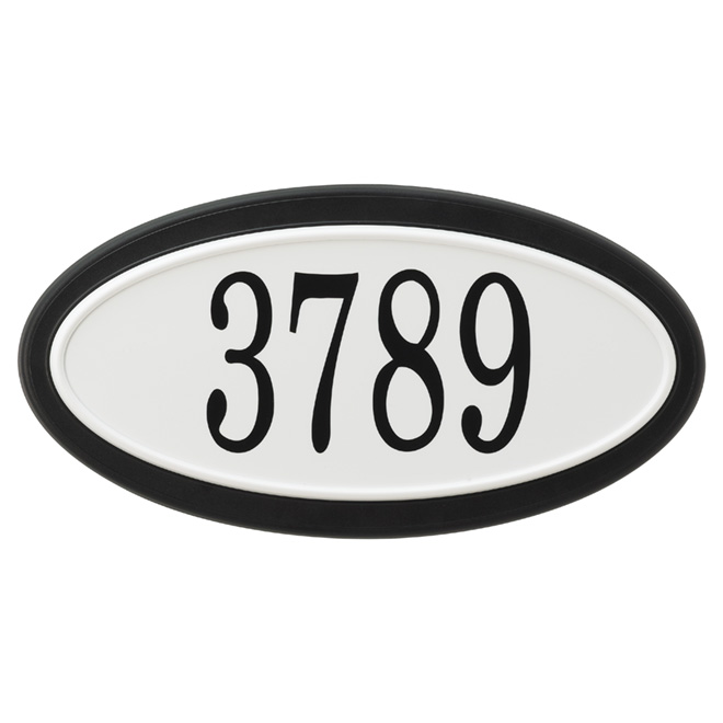 "Address Plate - ""Classic"" Oval Address Plate"
