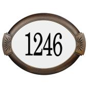 "Address Plate - 14"" x 10"" x 3/4"" - Aluminum - Antique Bronze"