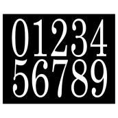 """Chiffres pour adresse, autoadhésif, 4"""", vinyle, blanc"""
