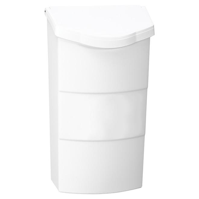 """Boîte aux lettres verticale, 4"""" x 8"""" x 14"""", plastique, blanc"""
