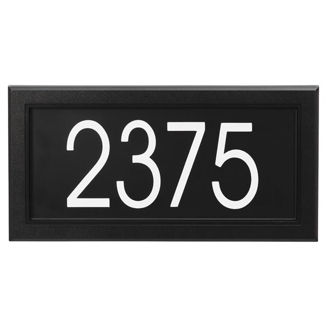 "Address Plate - PVC - 15 1/2"" x 8"" - Black and White"