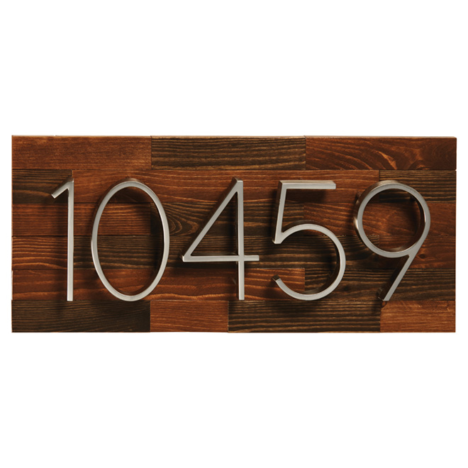 "Address Plate -  Hemlock Wood Rustic - 16"" x 6 3/4"""