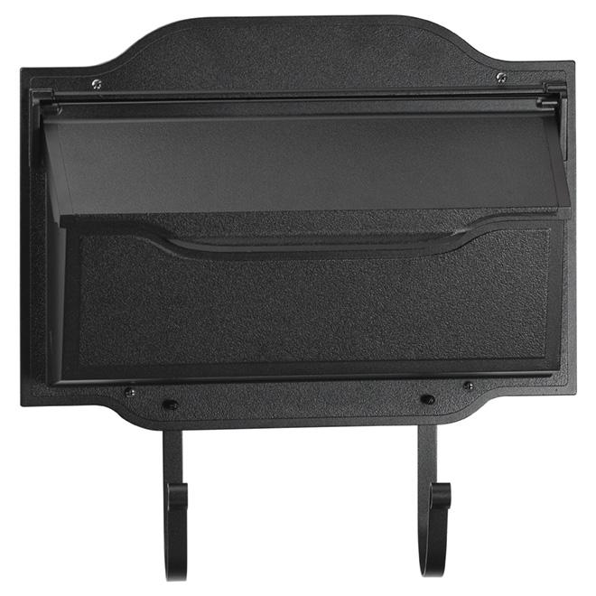 """Contemporary Mailbox - 17"""" - Aluminum - Black"""